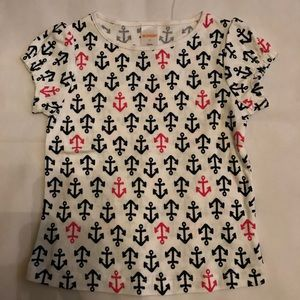 Gymboree Navy/Pink Anchors Shirt 3T NWOT